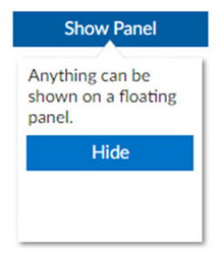 cWebFloatingPanel floating by a button