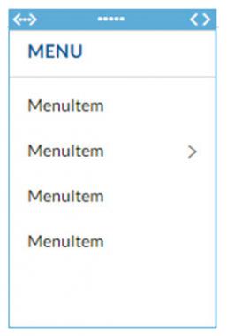 List Menu (in Designer)