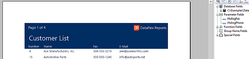 DataFlex Reports Formatting Functions