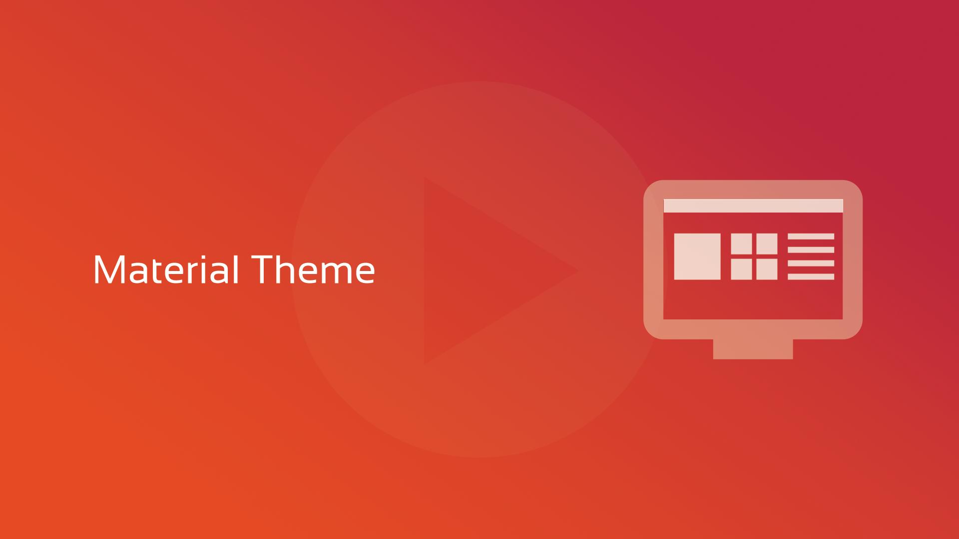 DataFlex 19.1: Material Theme