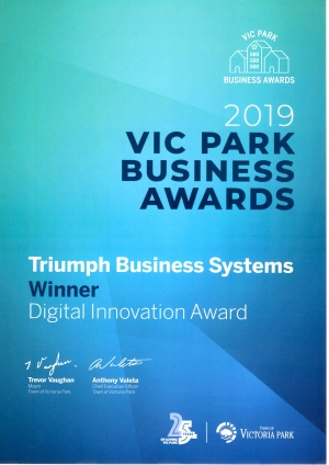 Business Award - Triumph Business Systems