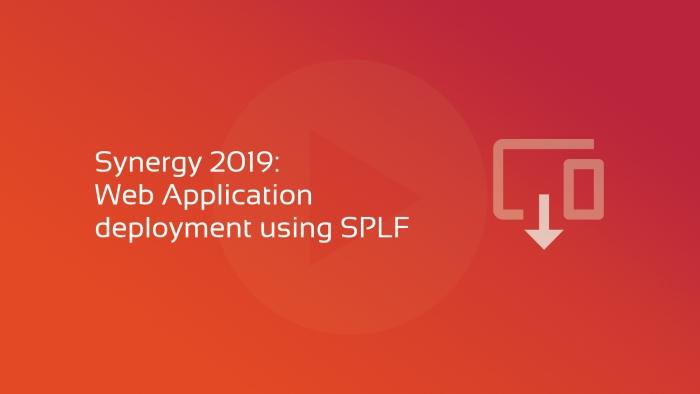 Web Application Deployment using SPLF