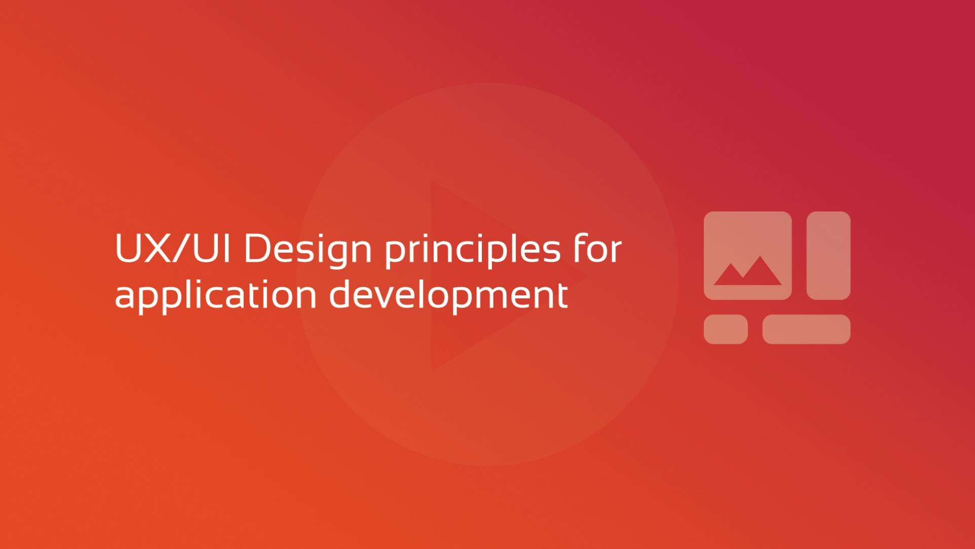 UX UI Design principles