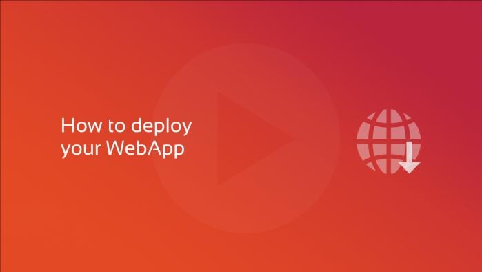How to deploy your DataFlex WebApp