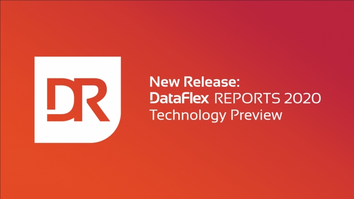 Technology Preview of DataFlex Reports 2020