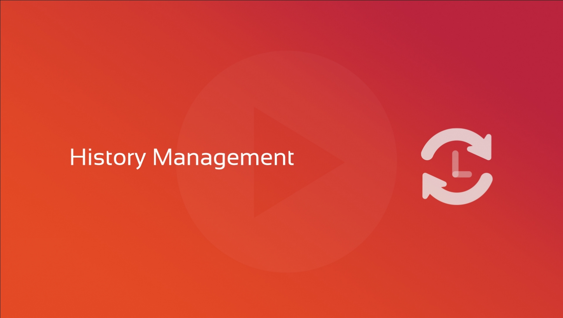 New video course: History Management