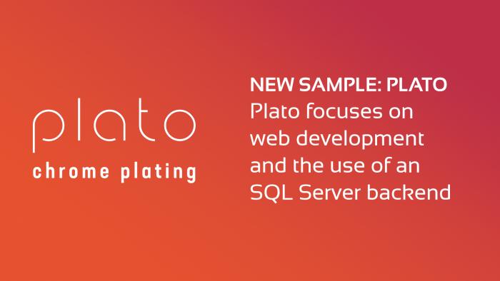 New sample DataFlex WebApp: Plato