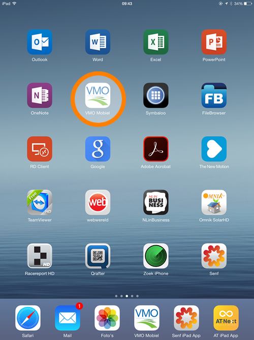 VMO logo on iPad homescreen