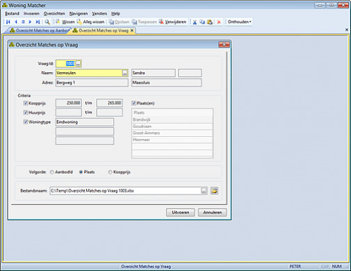 Property Matcher screenshot