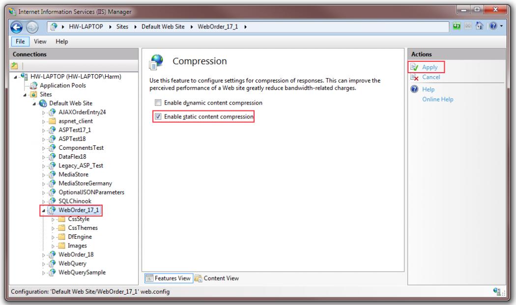 Enabling Static Compression