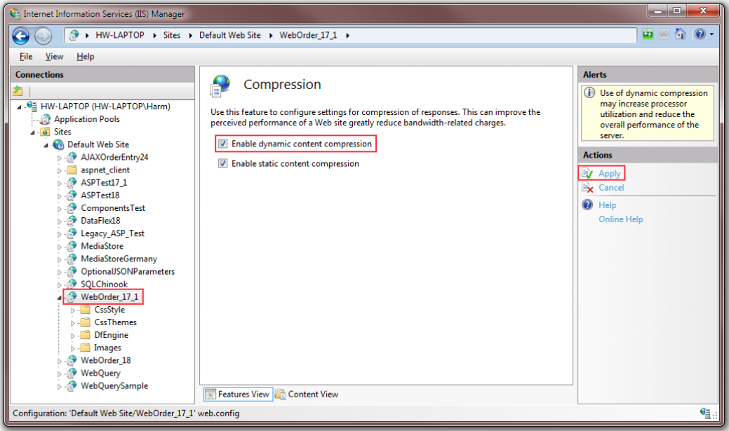 10 - Enable Dynamic Compression