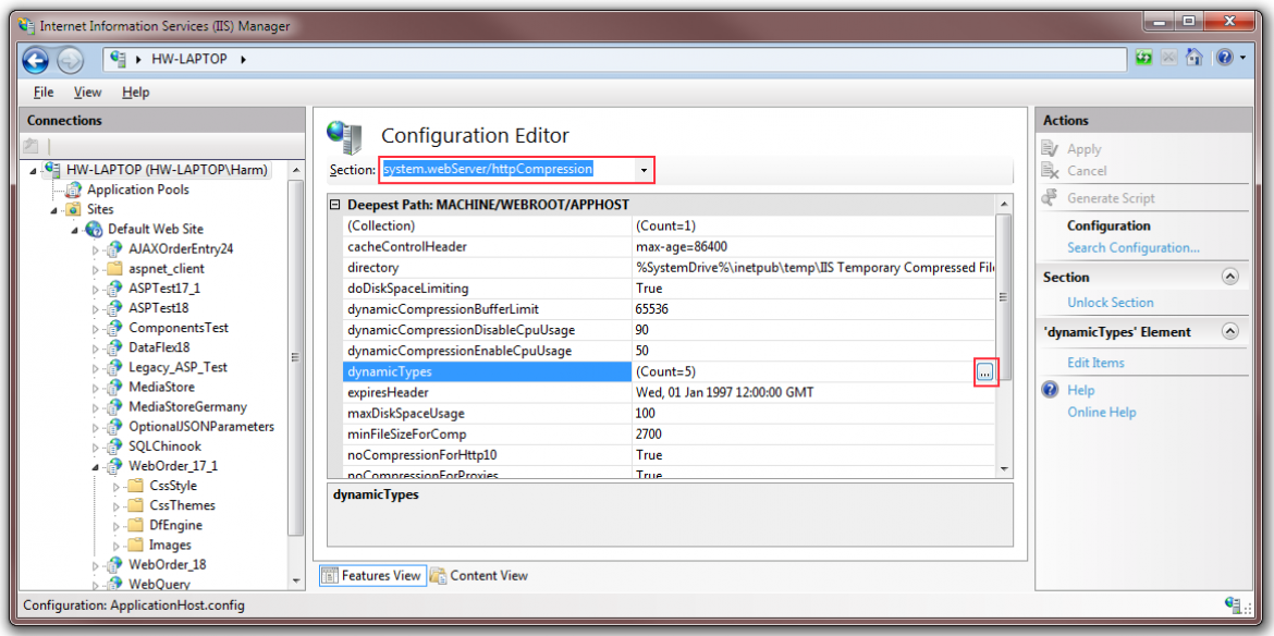 8 - Configuration Editor Dynamic Types