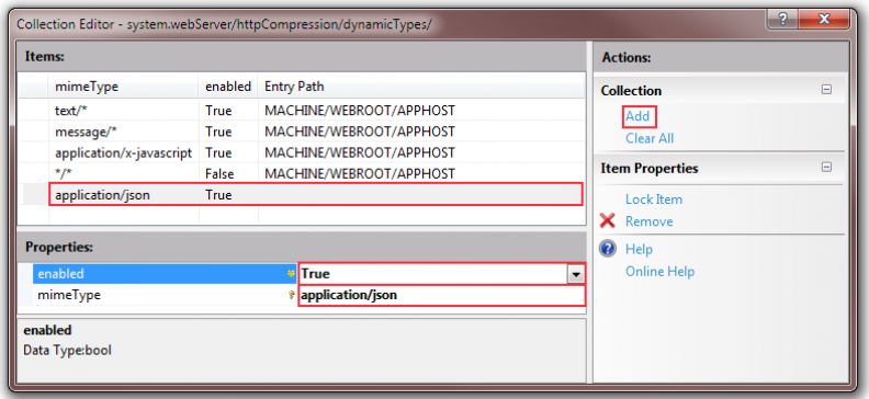 9 - Collection Editor Mime Types